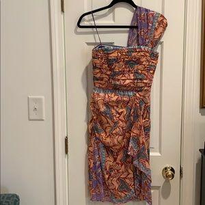Nicole Miller size 2 one shoulder cocktail dress